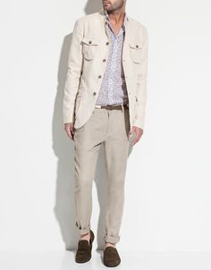 COTTON AND LINEN BLAZER - Blazers - Man - ZARA