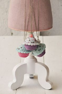 crochet cupcake necklaces for kids