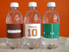 Football Printable - Football drink wrappers - Football Birthday - printable party - Sports Birthday - tailgate - Football Watch Party. $9.00, via Etsy.