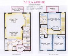 gorgeous modern 2 story villa floor plans sabine arts design ideas - Small Cottage Plans 2