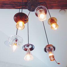 tea cup/ice cream glass chandelier.