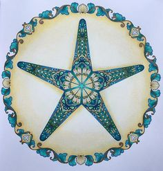 Johanna Basford Books Coloring Colouring Perdido Starfish Vintage Pages