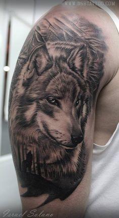 Resultado de imagem para tatuaje lobos realismo