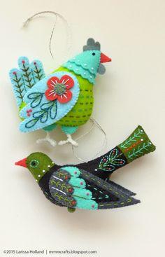 Aves del paraíso de fieltro.  Ideas (1) (449x700, 409KB)