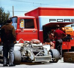 1970 Targa Florio. Working on the Porsche 908 MK03 of Vic Elford and Hans Herman