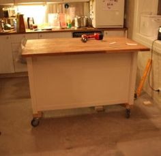 large central kitchen island on wheels - Google Search