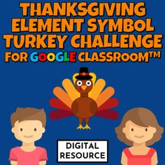 Thanksgiving Chemistry element names and symbols interactive Google Slides activityDigital interactive science task cards for Google Slides, Google Classroom, Distance Learning.The students use present mode and click on the element symbol that matches the given element name32 self-checking questions... One Step Equations, Grade 6 Math, Thanksgiving Math, Element Symbols, Google Classroom, Math Games, Task Cards, Chemistry, Distance