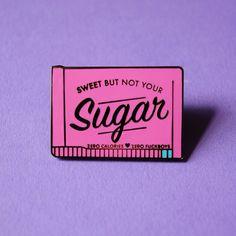 Pas votre broche émail dur de sucre par BlackDressWildHeart sur Etsy