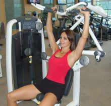 shoulder press exercise lifting weights weight machine work out