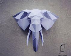 Papercraft whale printable DIY template par WastePaperHead sur Etsy