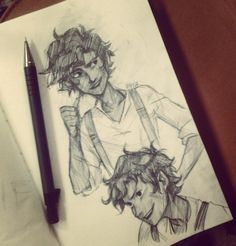 Leo Valdez sketch. By Viria. He defies all laws of perfectness.