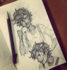 Leo Valdez sketch. By Viria. He defies all laws of perfectness.
