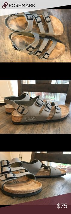 NWOT Birkenstock sandals Triple strap Birks. NWOT. Selling for women's size 9 but will also fit men size 7. Please look over all pictures before purchasing. Birkenstock Shoes Sandals
