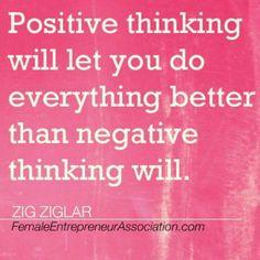 Zig Ziglar on Positive Thinking...