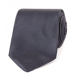 Mid Grey Woven Solid Satin Tie