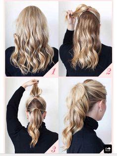 Double ponytail for longer fuller hair