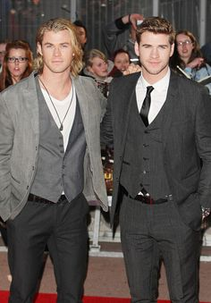hemsworth brothers. yum;; can i have both?