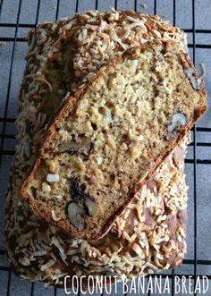 coconut banana bread, healthy banana bread,
