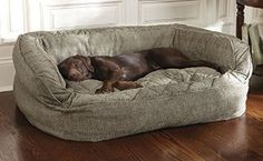 Amazon.com : Orvis Lounger Deep Dish Dog Bed Cover / Large, Brown Tweed, Large : Pet Supplies
