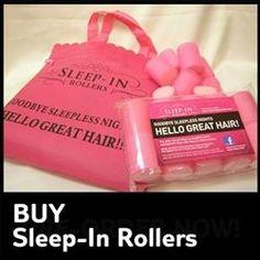 VELCRO SLEEP IN ROLLERS... love <3