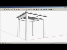 SketchUp Tutorial 2: Drawing objects with accurate dimensions - drawing a simple table