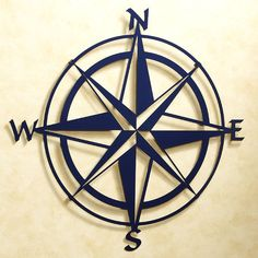 Nautical Wall Decor Metal Compass Wall Art by CamillaCotton ...