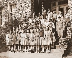 Many of these Springville students would go on to become the graduating class of 1964.  My husband's older brother is third from left on second row from bottom....slj