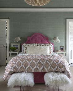 Bedroom With Bold Colors
