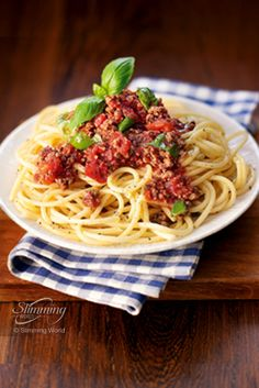 If you're a pasta lover then you'll love this Free speedy spaghetti bolognesel. Extra lean mince (5% fat or less), tomatoes, flavoursome vegetables and filling pasta - a Food Optimising feast! http://www.slimmingworld.com/recipes/spaghetti-bolognese.aspx