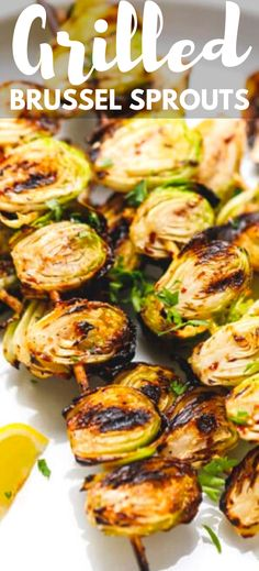Grilled Brussel Sprouts Skewers/Kebabs – the easiest way to cook Brussels sprouts on the grill. Quick and simple to prepare, drizzled with balsamic glaze and served with dipping sauce.