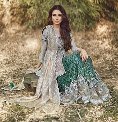 Lovely grey n bottle green lehnga
