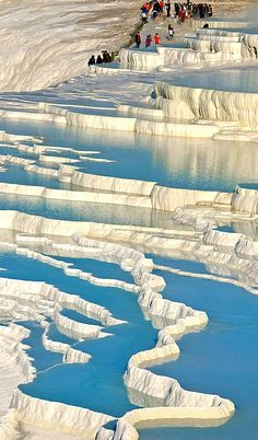 Things to do in Pamukkale Cotton Castle Turkey. History, facts, attractions, what to see in Pamukkale Turkey and information. Places Around The World, Oh The Places You'll Go, Places To Travel, Places To Visit, Around The Worlds, Travel Destinations, Pamukkale, Wonderful Places, Beautiful Places