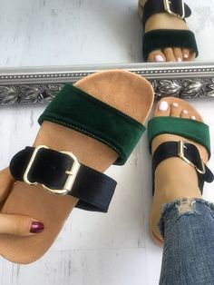 Shop Womens Flat Strappy Outdoor Slippers Shoes right now, get great deals at Joyshoetique. #sandals