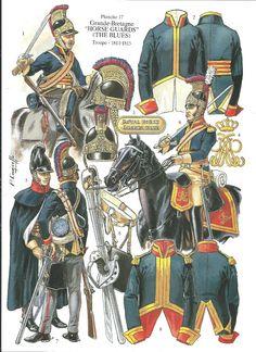 soldatini uniformi e storia militare: Horse Guards (The Blues) Troupe British Army Uniform, British Uniforms, British Soldier, Military Art, Military History, Best Uniforms, Military Uniforms, Bataille De Waterloo, Military Costumes
