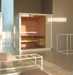 effegibi logica sauna and hammam seamlessly adapts to perfect spa spaces Bathroom Spa, Bathroom Interior, Modern Bathroom, Finnish Sauna, Steam Generator, Famous Buildings, Turkish Bath, Spa Rooms, Curved Glass