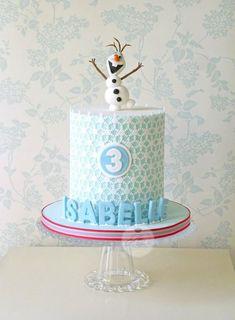 Torta di Frozen con decorazioni in pasta di zucchero n.42