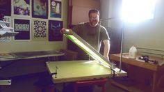 Vacuum Table Construction - More photos of in process at the link via Paloma Chavez #screenprint #screenprinting #printing #studio #workshop