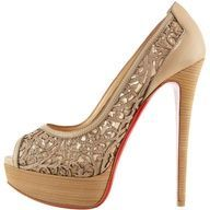Christian Louboutin Pampas Laser-Cut Pump...great nude color