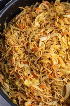 Ramen Noodle Cabbage Stir Fry Recipe - Build Your Bite - stir fried cabbage and noodles - Stir Fried Cabbage Recipes, Cabbage Stir Fry, Ramen Recipes, Stir Fry Recipes, Asian Recipes, Cooking Recipes, Recipies, Rice Noodle Recipes, Cookbook Recipes