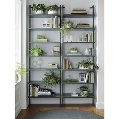 "stairway grey 96"" wall mounted bookcase 