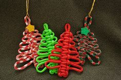 paracord christmas ornaments - Google Search