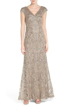 Tadashi Shoji Corded Lace A-Line Gown (Regular & Petite) available at #Nordstrom