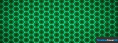 Green Hexagon Pattern Facebook Cover Timeline Banner For Fb13 Facebook Cover