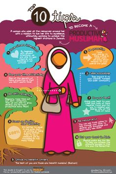 [Doodle of the Month] Top 10 Tips to Become a Productive Muslimah! - Productive Muslim
