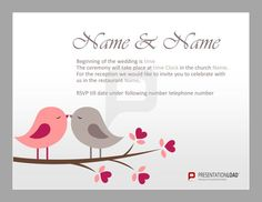 Welcome your guests with a sweet wedding-invitation or try out some of our other Free PowerPoint Templates. http://www.presentationload.com/wedding-templates.html