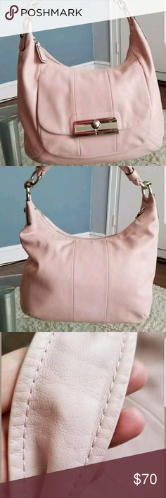 Coach pink leather handbag Coach pink leather handbag used very good condition Coach Bags Shoulder Bags