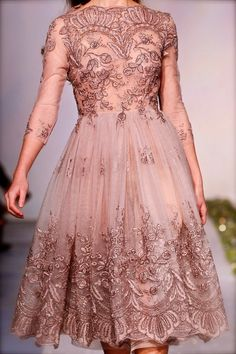 Embroidered rose gown for a young Tyrell maiden, Luisa Beccaria Couture Details, Couture Tops, Couture Fashion, Runway Fashion, Nice Dresses, Short Dresses, Amazing Dresses, Rose Gown, High Fashion Dresses