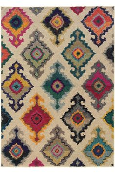 "Festive Area Rug $151 4x5'9"" (entry), also 9'9""x12'2"" for $800.... 7'10""x10'10"" for $679 + $88 shipping at homedecorators.com"