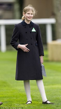 Young Lady: Also at the races was Lady Louise, James's older sister and the Queen's granddaughter, who is already well acquainted with the sport as riding seems to be her greatest passion in life