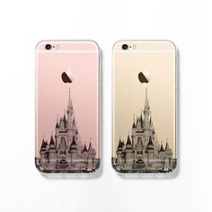 Show off your new rose gold iPhone 6s with this Disney castle clear / transparent case! - Full wrap-around design, the pattern goes all over the case including sides and back. - Fits for all version o